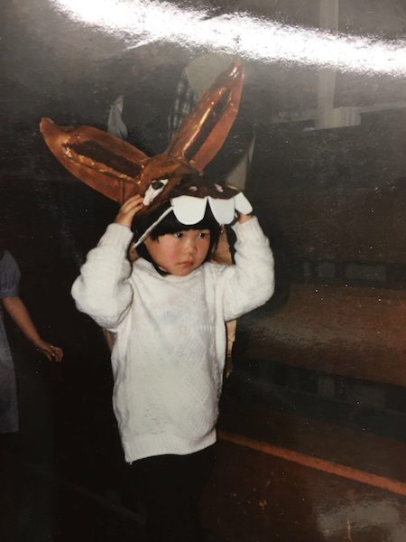 As the donkey in the school's nativity play